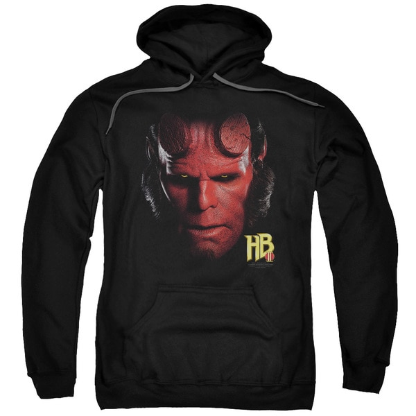 Hellboy Ii/Hellboy Head Adult Pull-Over Hoodie in Black