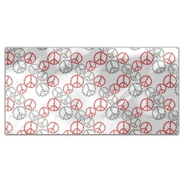 Peace Revival White Rectangle Tablecloth