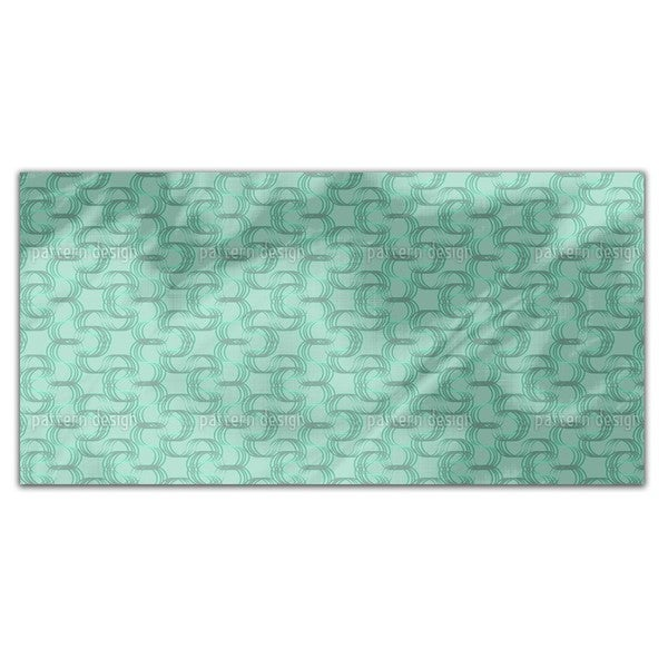 New Wave Green Rectangle Tablecloth