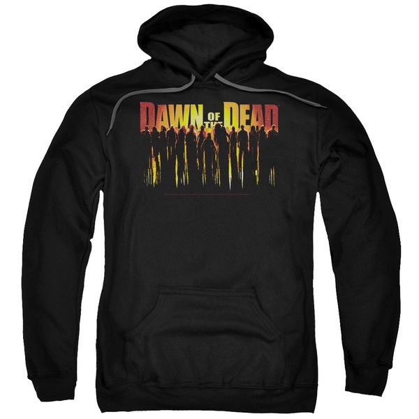 Dawn Of The Dead/Walking Dead Adult Pull-Over Hoodie in Black