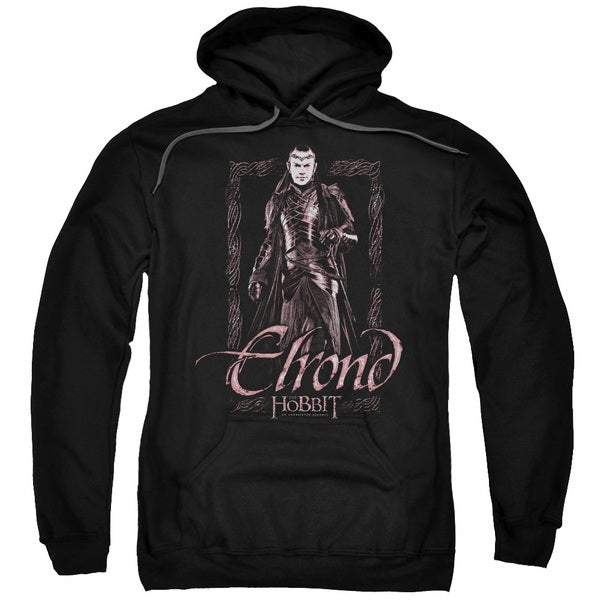 The Hobbit/Elrond Stare Adult Pull-Over Hoodie in Black