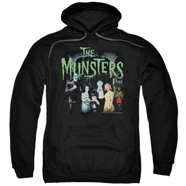 Munsters/1313 50 Years Adult Pull-Over Hoodie in Black
