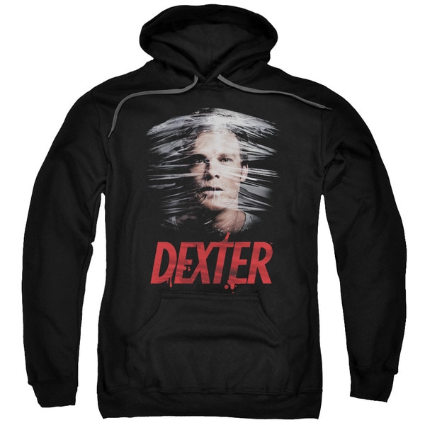 Dexter/Plastic Wrap Adult Pull-Over Hoodie in Black