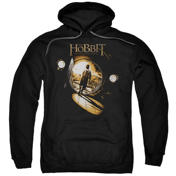 The Hobbit/Hobbit Hole Adult Pull-Over Hoodie in Black