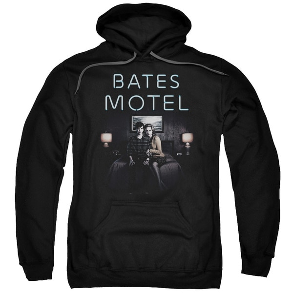 Bates Motel/Motel Room Adult Pull-Over Hoodie in Black