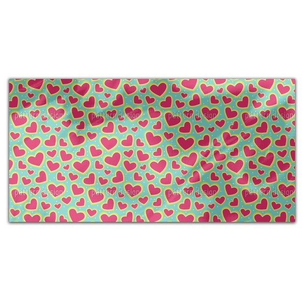I Am So Wild About Your Strawberry Heart Rectangle Tablecloth