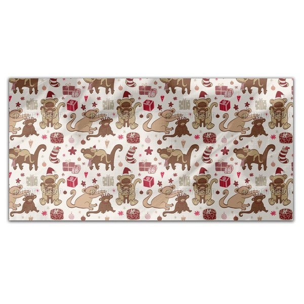 Have A Monkey Christmas Rectangle Tablecloth