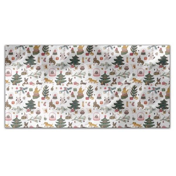 Happy Holiday Season Rectangle Tablecloth