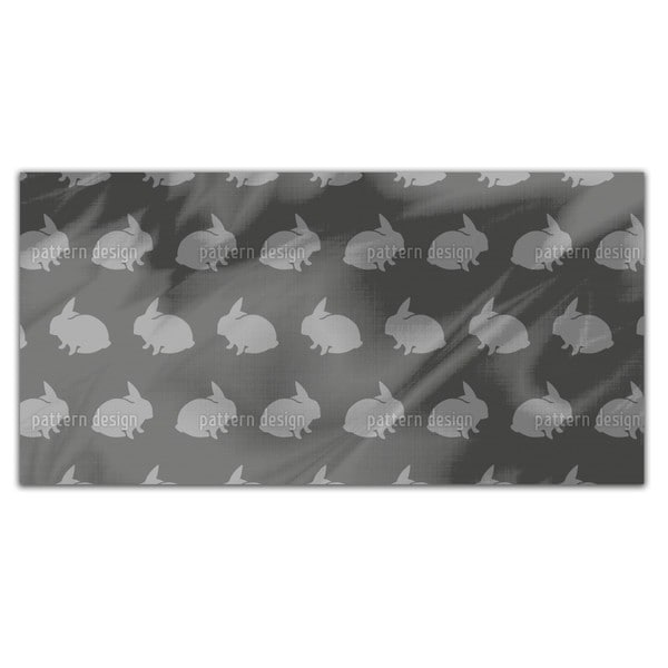 Grey Rabbits Rectangle Tablecloth