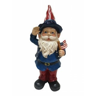 Alpine Seasonal Decor 22-inch Americana Gnome with Flag