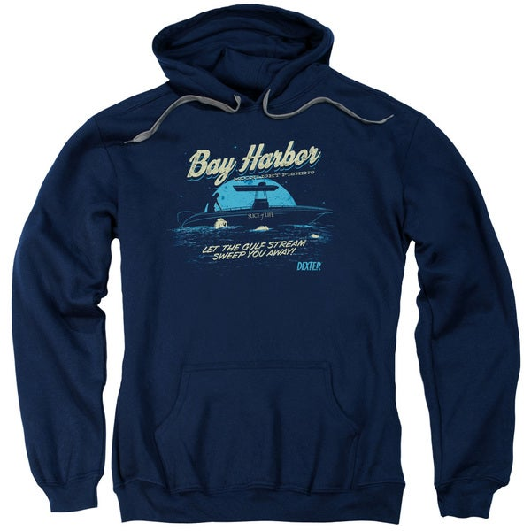 Dexter/Moonlight Fishing Adult Pull-Over Hoodie in Navy