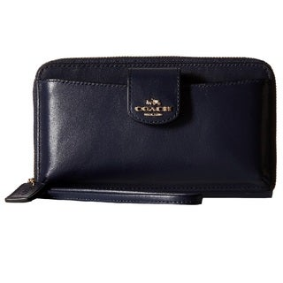 Coach Smooth Leather Navy Phone Wallet