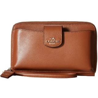 Coach Smooth Leather Saddle Phone Wallet