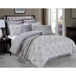 Kendrick Grey 8-piece Comforter Set