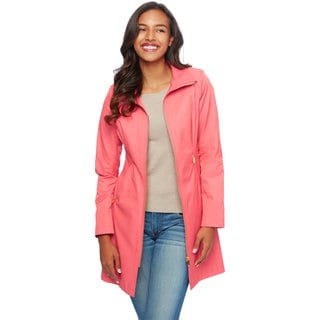 Via Spiga Women's Rain Coat with Stand Collar