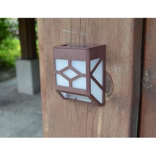 Brown Plastic Solar-powered Wall Sconce Motion Light