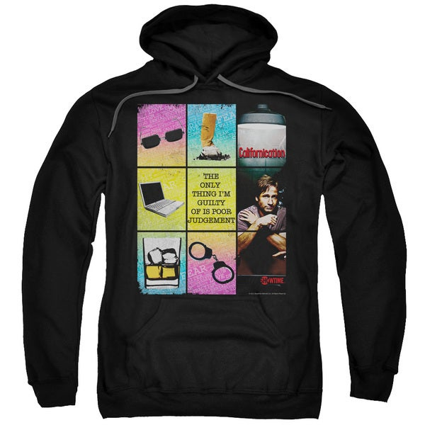 Californication/Poor Judgement Adult Pull-Over Hoodie in Black