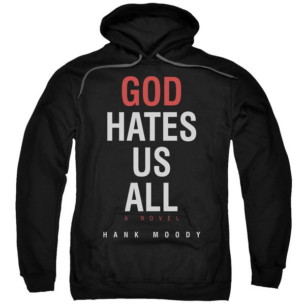 Californication/Book Cover Adult Pull-Over Hoodie in Black