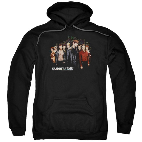 Queer As Folk/Title Adult Pull-Over Hoodie in Black