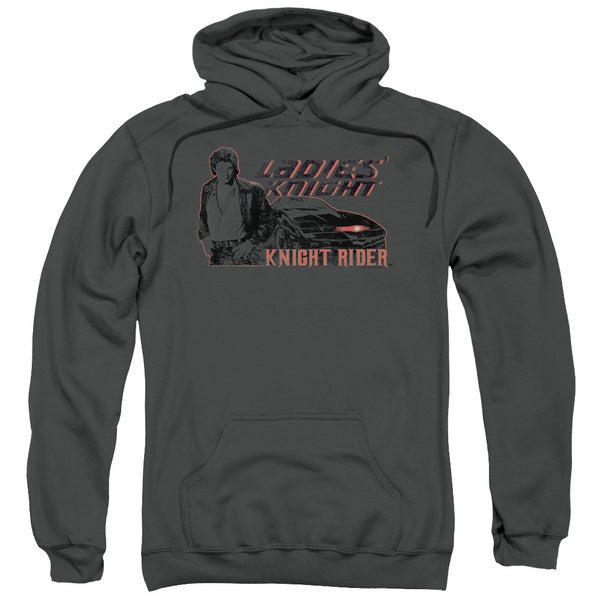 Knight Rider/Ladies Knight Adult Pull-Over Hoodie in Charcoal