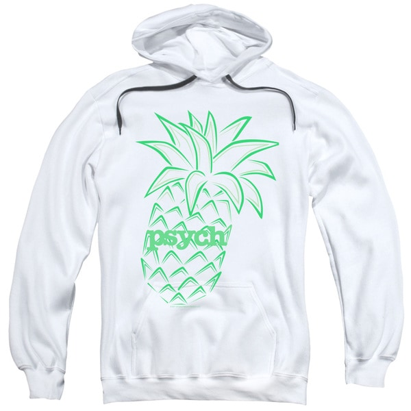 Psych/Pineapple Adult Pull-Over Hoodie in White