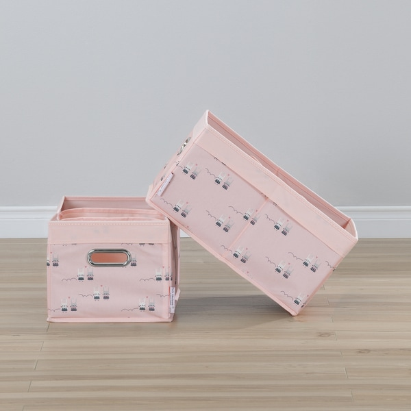 South Shore Storit Pink Polyester Set of 2 Rabbit Baskets