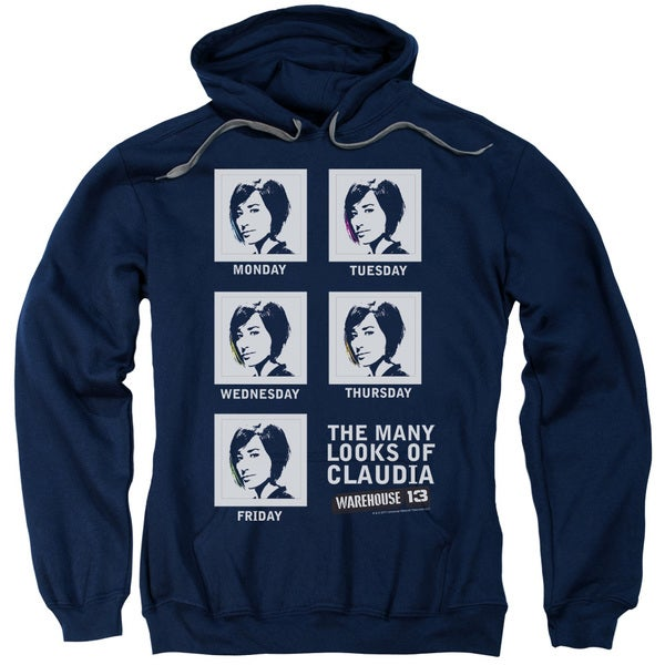 Warehouse 13/Many Looks Adult Pull-Over Hoodie in Navy
