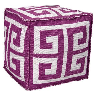 """Mina Victory by Nourison Indoor/Outdoor Lilac Cube (16"""" x 16"""")"""