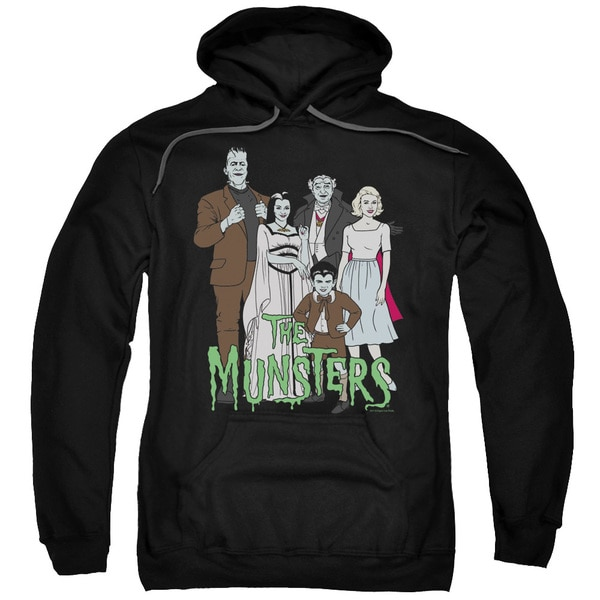 The Munsters/The Family Adult Pull-Over Hoodie in Black