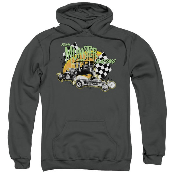 The Munsters/Munster Racing Adult Pull-Over Hoodie in Charcoal