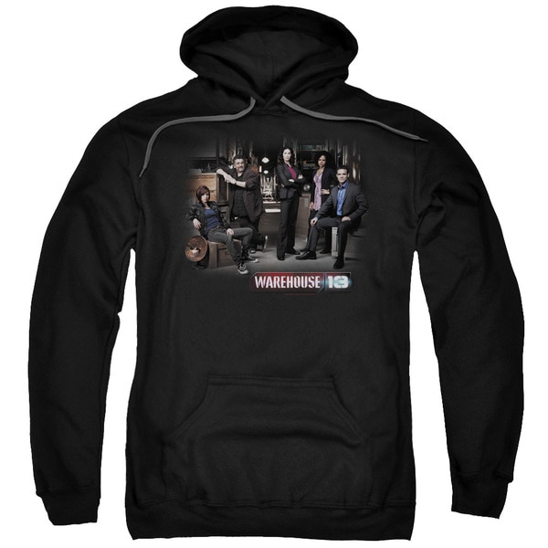 Warehouse 13/Warehouse Cast Adult Pull-Over Hoodie in Black