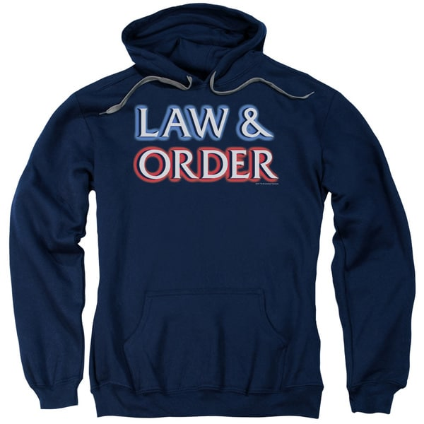 Law &Amp; Order/Logo Adult Pull-Over Hoodie in Navy