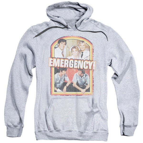 Emergency/Retro Cast Adult Pull-Over Hoodie in Athletic Heather