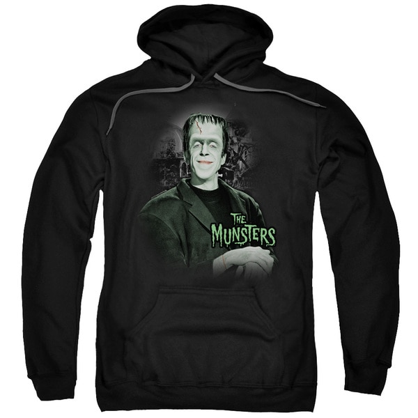 The Munsters/Man Of The House Adult Pull-Over Hoodie in Black