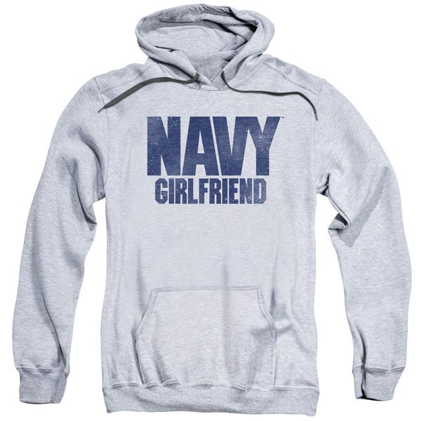 Navy/Girlfriend Adult Pull-Over Hoodie in Athletic Heather
