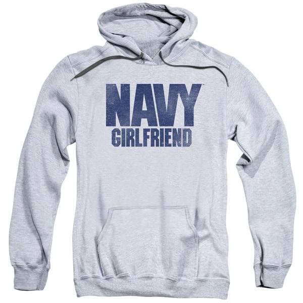 Navy/Girlfriend Adult Pull-Over Hoodie in Athletic Heather