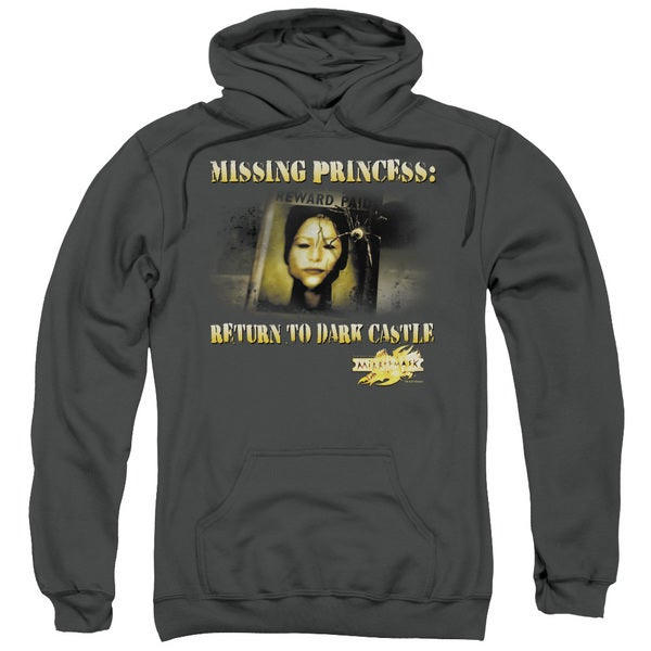 Mirrormask/Missing Princess Adult Pull-Over Hoodie in Charcoal