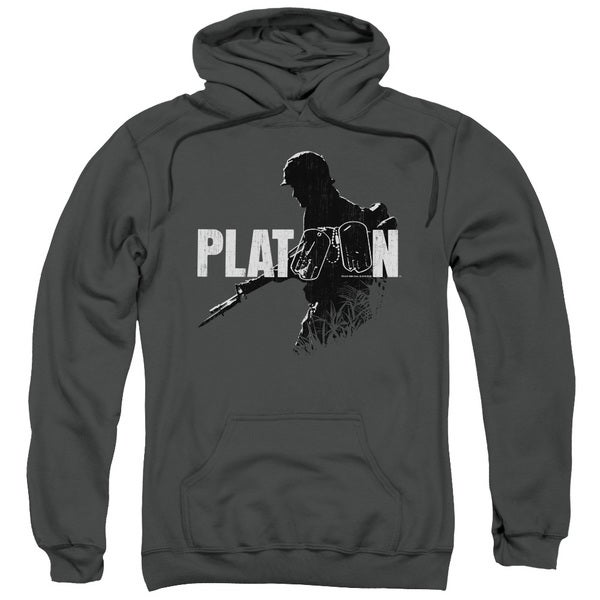 Platoon/Shadow Of War Adult Pull-Over Hoodie in Charcoal