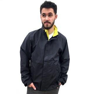 Narragansett Traders Men's Charcoal and Green Nylon Lightweight Waterproof Jacket