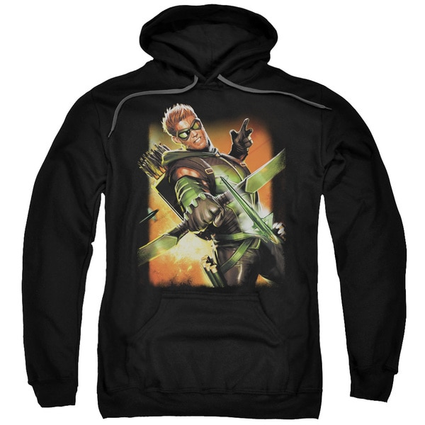 JLA/Green Arrow #1 Adult Pull-Over Hoodie in Black
