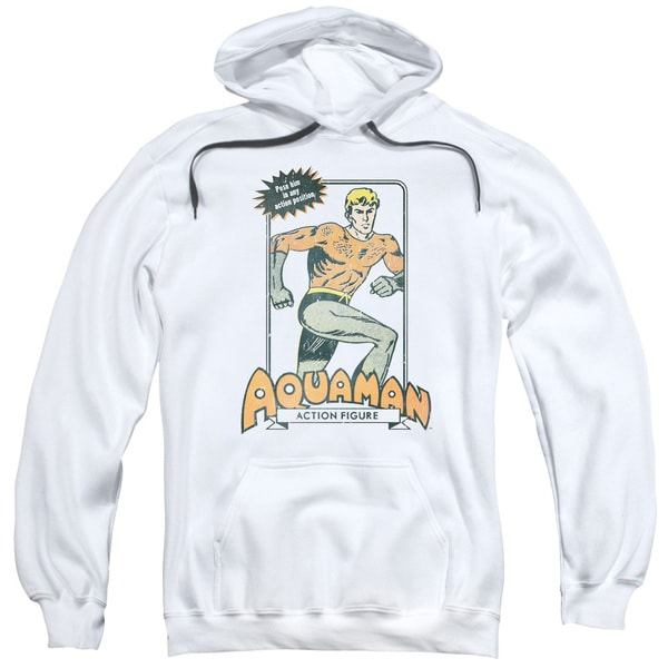 DC/Am Action Figure Adult Pull-Over Hoodie in White 18724322