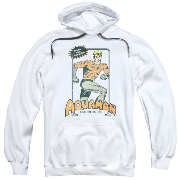 DC/Am Action Figure Adult Pull-Over Hoodie in White 18724318