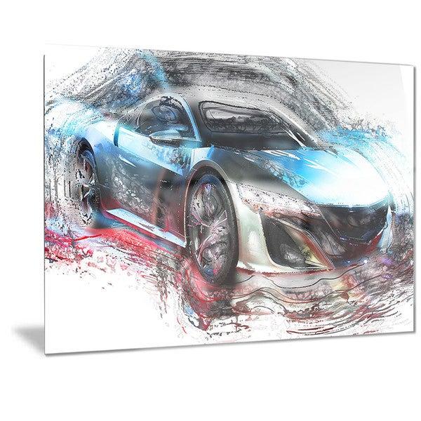Designart Exotic SuperCar Metal Wall Art