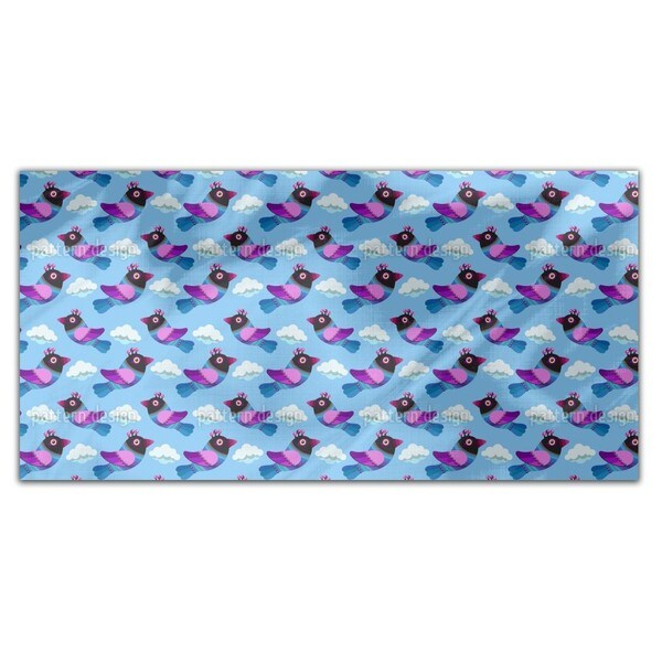 Funny Birds In The Clouds Rectangle Tablecloth