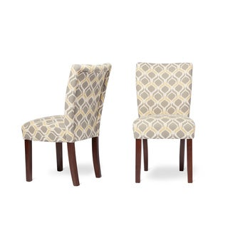 Furniture of America Bessia Modern Patterned Accent Chair (Set of 2)