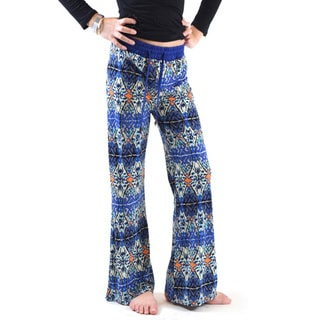 Girls' Multicolor Polyester and Spandex Jersey Printed Palazzo Pants