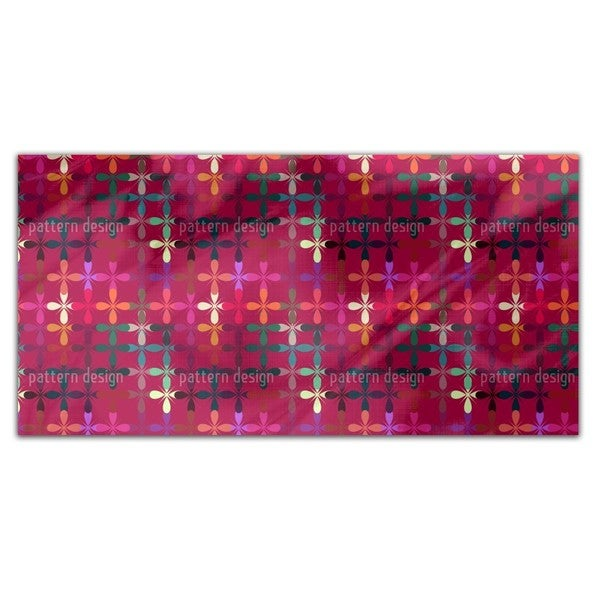 Abstract Flowerbed Rectangle Tablecloth