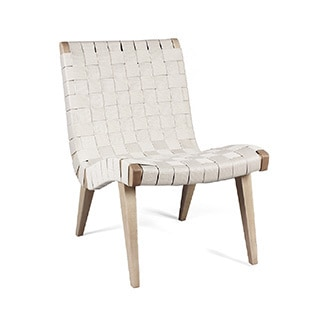 Hans Andersen Home Jens White Woven Lounge Chair