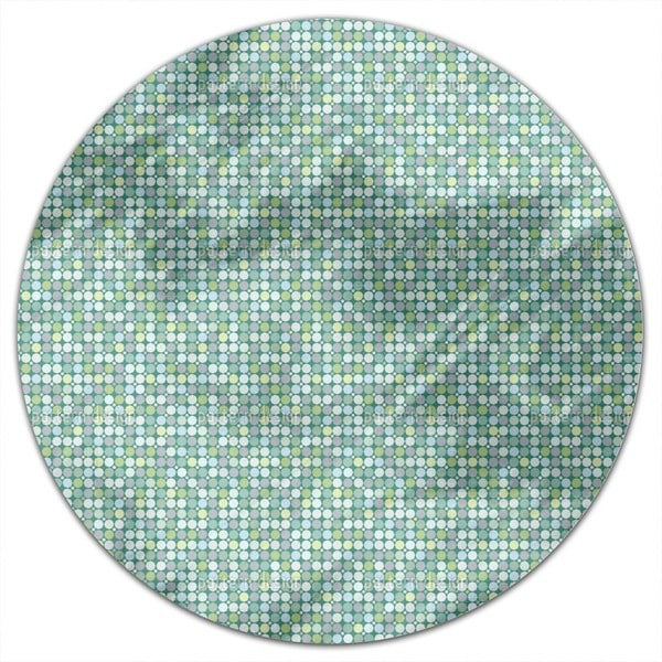 Crystal Glass Round Tablecloth