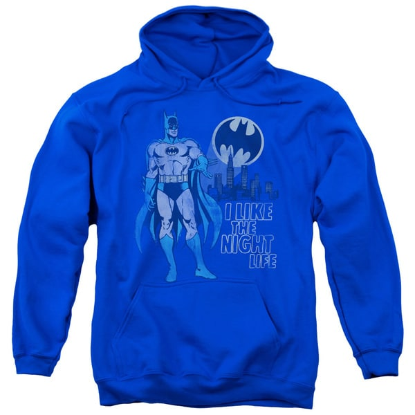 DC/Night Life Adult Pull-Over Hoodie in Royal Blue